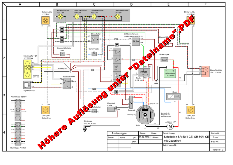 simson sr50 zundschloss schaltplan wiring diagram. Black Bedroom Furniture Sets. Home Design Ideas